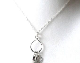 Love to Run Marathon 5k 10k Half Marathon Cross Country Eternity infinity Sterling Silver Charm Necklace