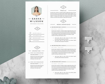Minimalist Resume Template Cover Letter Icon Set for
