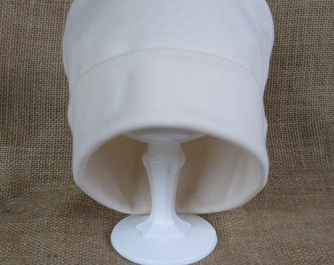 Chemo Hat Super Soft Cream Cotton Chemo Cap and Beanie - I love this hat!