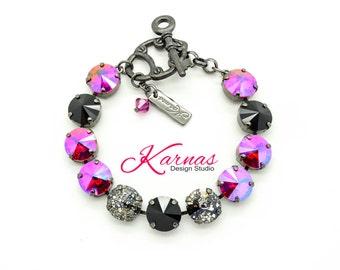 ON THE EDGE 12Mm Crystal Rivoli Bracelet Made With Swarovski Elements *Pick Your Finish *Karnas Design Studio *Free Shipping*