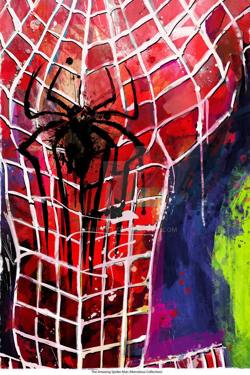 New Amazing Spiderman Abstract Art Canvas Sizes