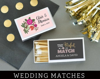 Wedding Matches - Personalized Matches - Match Box Wedding Matchbox Wedding Favors Matches - A Perfect Match (EB3101MP) - set of 50