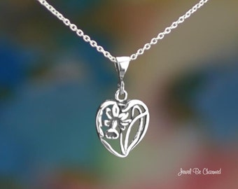 "Sterling Silver Daffodil Necklace with 16-24"" Chain or Pendant Only"