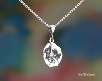 Sterling Silver Primrose, Violet or Pansy Necklace or Pendant Only 925