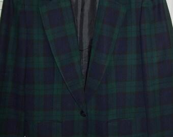 Vintage Pendleton Watchplaid Wool Classic  Blazer Jacket  Size 10