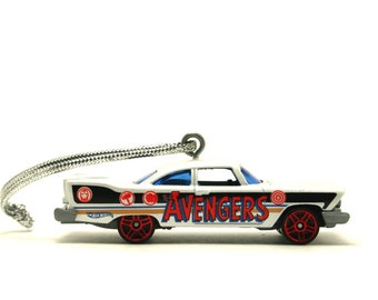 The Avengers 1957 Plymouth Fury Hot Wheels Ornament