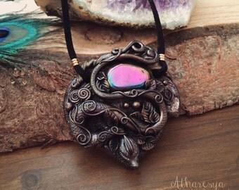 OOAK Dragon with Rainbow Hematite