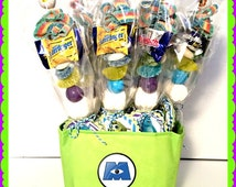 Monsters IncTheme....Candy Kabob, Party Favor, Skewers Sticks, Candy Centerpiece, Candy Buffetn