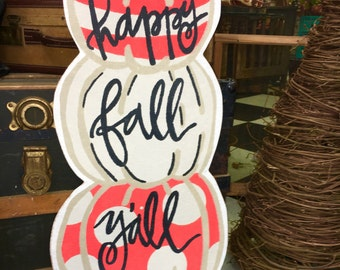 Happy Fall Yall Door Decor