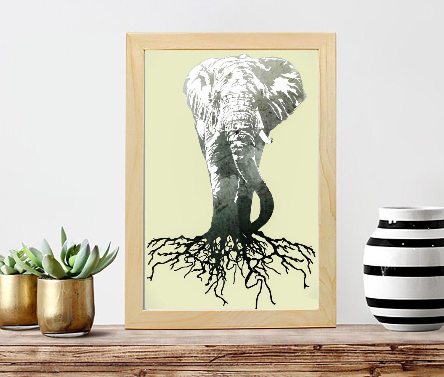 Elephant Poster Print Wall Art Home Decor Boho Decor