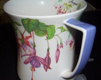 "Fuchsia ""August"" fine bone china mug!"