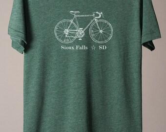 Sioux Falls t-shirt, South Dakota t-shirt, Sioux Falls SD t-shirt, midwest t-shirt, bike t-shirt