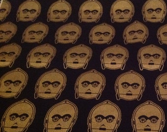 Licensed Star Wars C3PO black and gold fabric
