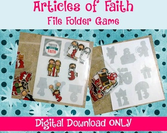 Articles of Faith File Folder Game (No-Sew Quiet Book Series)