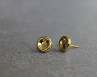 Tiny gold stud earrings, Small post earrings, Simple earrings, minimalist earrings.
