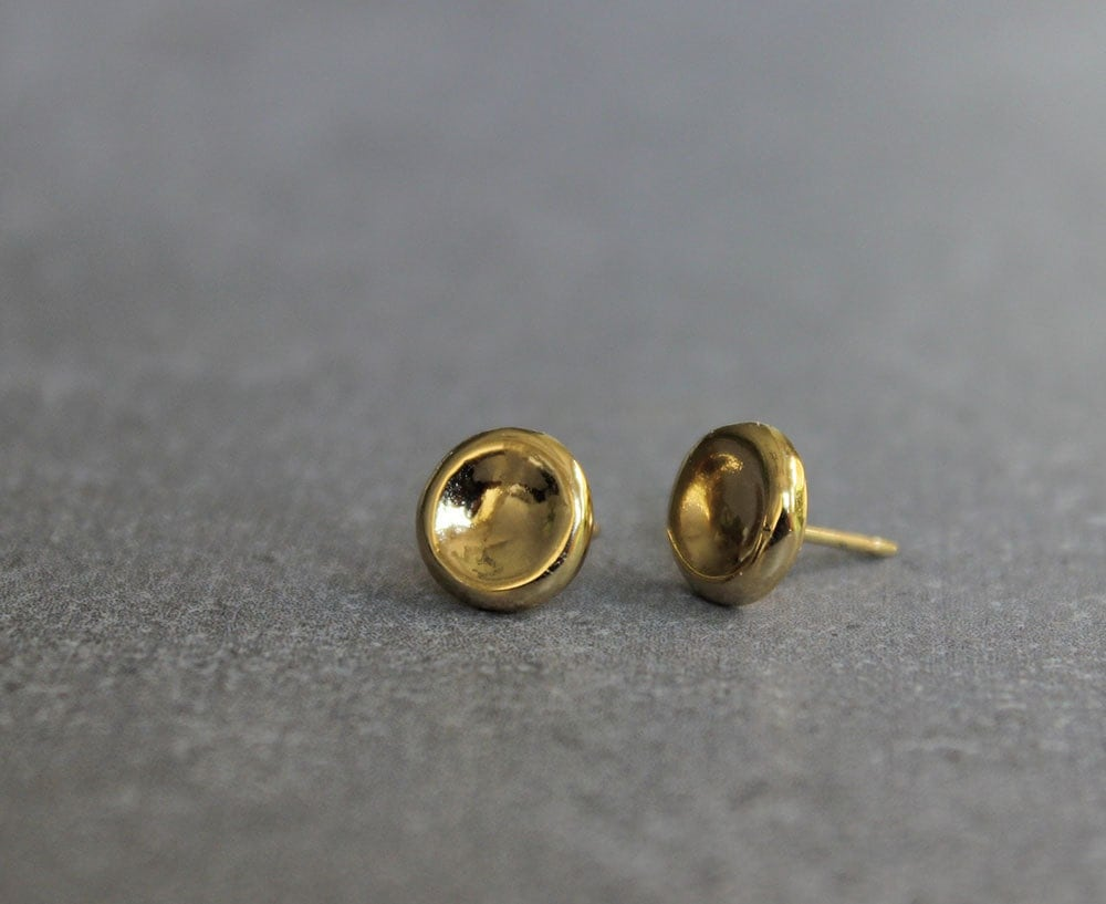 tiny gold stud earrings small post earrings simple earrings