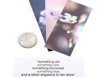silver sixpence bridal gift | wedding charm | lucky sixpence | wedding favour