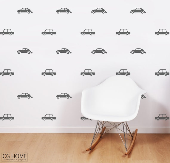 wall decal CARS living street CUSTOM wallpaper car sticker vinyl customized nursery decoration express makeover wall DECAL vinyl CGhome