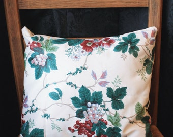 Items similar to Small Pansy Pillow, Vintage Style Purple Botanical Pansy Decorative Pillow With ...