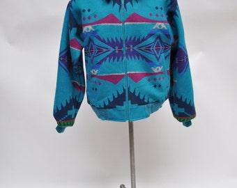 vintage PENDLETON jacket coat winter wool high grade western wear medium