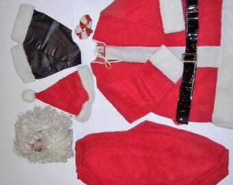 Vintage Complete Santa Suit