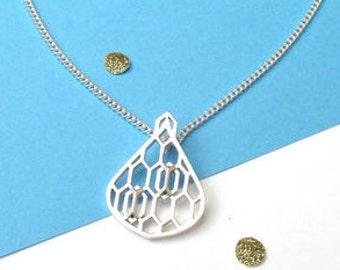Geometric Rain Drop Necklace