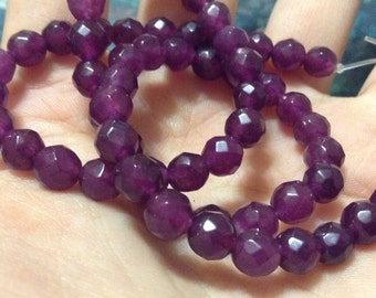 """15"""" strand purple Quartz faceted oval beads"""
