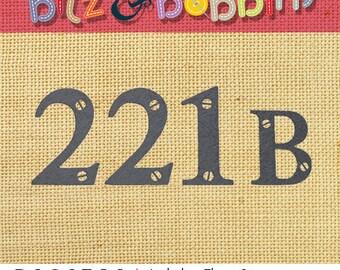 Sherlock Holmes 221b - Machine Embroidery Design