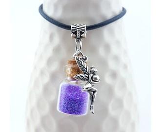 Custom made fairy necklace - Fairy Jewelry - Fairy sprite necklace - handmade fairy necklace - Fairies - nymphs - Fairy magical orb Necklace