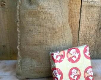 Santa Sacks - Christmas Burlap Bags - Christmas Sacks - Burlap Sack - Burlap Santa Sack - Burlap Bag - Christmas Gift Bag - Choose Size