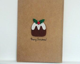 X5 Christmas Pudding Christmas Card (Pack of 5)