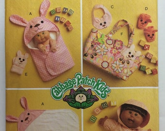 Butterick B5304 Cabbage Patch Kids Bath Items for 11 and 14 inch doll uncut
