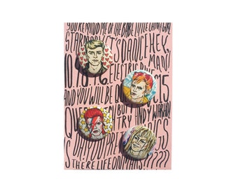 Bowie Buttons