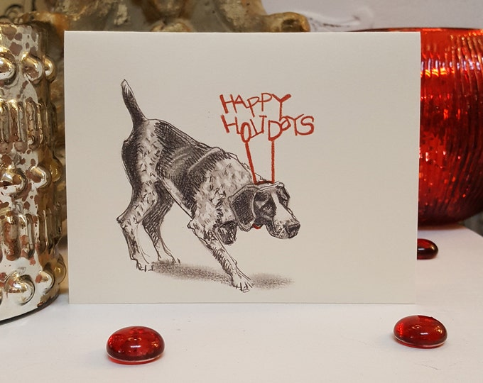 German Shorthaired Pointer Holiday Card