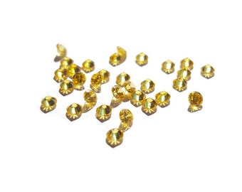 5 or 10-Pack of Golden Yellow Stardust Crystals for Floating Lockets-2.8mm-Gift Idea