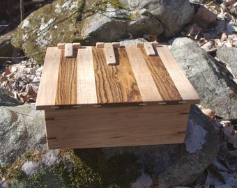 Large Butternut Box with a Curly Maple and Bocote Lid