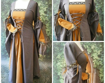 Medieval Dress, Renaissance Gown, Renfaire LARP, Fantasy Dress Handfasting
