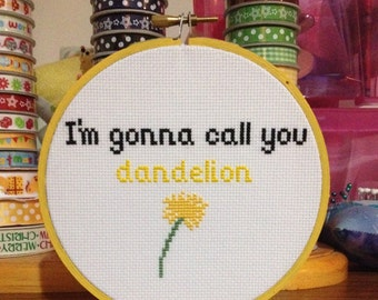 Orange is the New Black Quote Cross Stitch Pattern