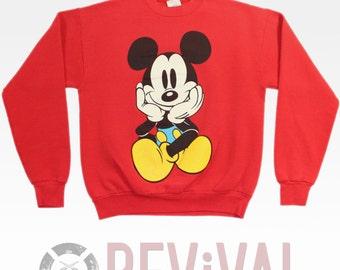Vintage Mickey Mouse Sweatshirt ~ Size M-L