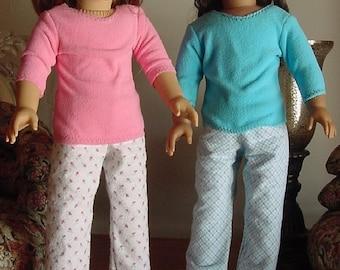 Loungewear sleepwear for 18 inch dolls