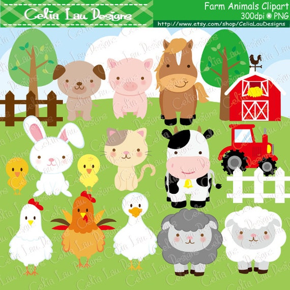 Farm animals Clipart cute farm animals clip art farm clipart