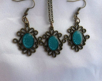 Magic Set Pendant and Earrings