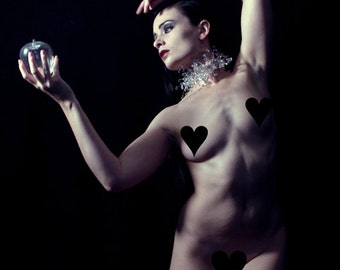 The Crystal Apple // Artistic Nude // 8x10 signed print // Self Portrait Photography