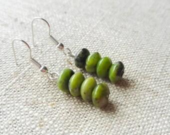 Chrysoprase Bead Earrings - May birthstone