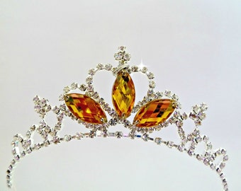 PRINCESS BELLE CROWN ,The Beauty And The Beast Belle Crown, Belle Tiara, Belle Cosplay Costume Halloween , Belle Rhinestone Tiara Headband