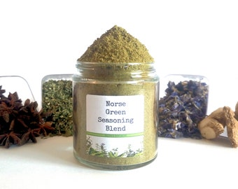 Norse Green Seasoning Blend European Viking Norwegian Spice Mix Foodie Gift