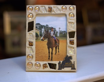 Equestrian Photo Frame/Horse Photo Frame/Horse and Rider Photo Frame/Hunter Jumper Photo Frame/Eventing Photo Frame