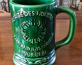 """Souvenir Mug from Expo 67 held in Montreal Canada with the theme """"Man and His World"""" theme.  Rare by Beauce"""