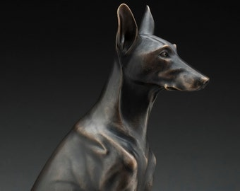 Eye On The Prize - Bronze Dog Sculpture