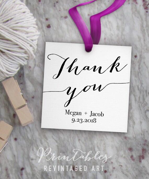 Thank You Tags Printable, Editable Favor Tag Template // Wedding ...